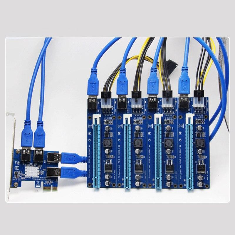 بطاقة توسيع PCI جديدة ، 1 إلى 4 فتحات PCI ، محول USB 3.0 ، بطاقة رفع PCIE ، جهاز تعدين بيتكوين GK99
