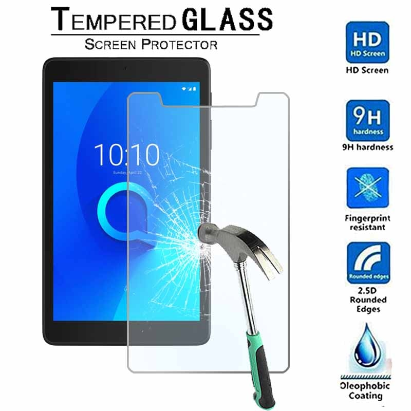 For Alcatel 3T 8 - 9H Premium Tablet Tempered Glass Screen Protector Film Protector Guard Cover 9h tempered glass for asus zenpad 8 0 z380 z380c z380m z380kl screen protector 8 inch tablet protective glass film guard premium