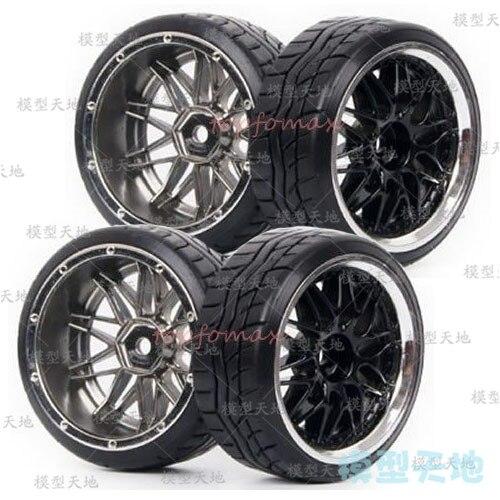 4 Uds 1/10 coche para drift neumáticos 26*64MM rueda de plástico borde neumático duro para HSP Tamiya HPI Kyosho 94123 AXIS D3 D4 CS TT01 TT02 9016