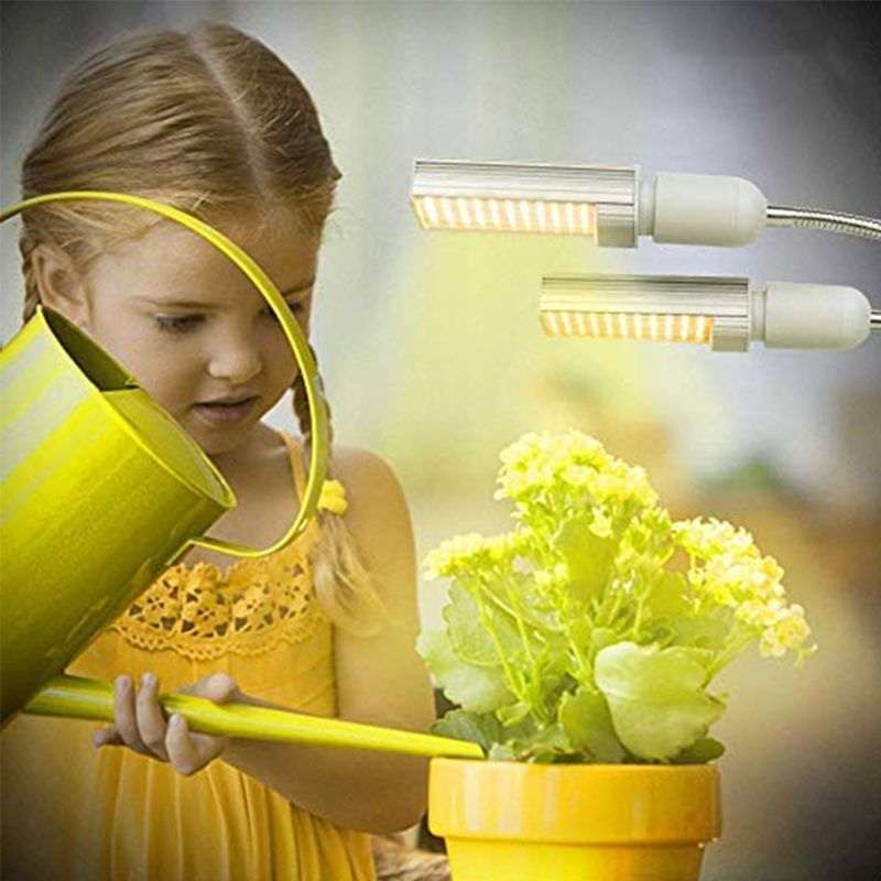 Led espectro completo crescer lâmpada para plantas de interior 15000 lux sunlike gooseneck luz x6hc
