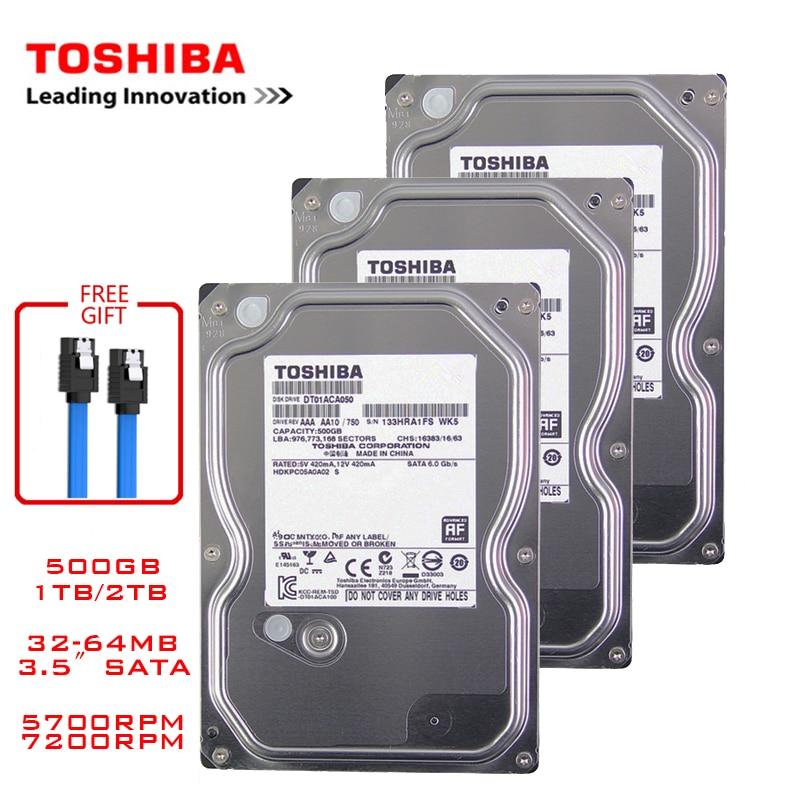 Жесткий Диск Toshiba 500 Гб для настольного компьютера, внутренний механический жесткий диск 3,5 дюйма, SATA3, жесткий диск 6 ГБ/сек., жесткий диск 1 ТБ,...
