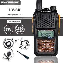Baofeng UV-6R Walkie Talkie 7W Potente Caccia Bidirezionale CB Ham Radio UV6R UHF VHF Dual Band Palmare FM ricetrasmettitore Comunicador