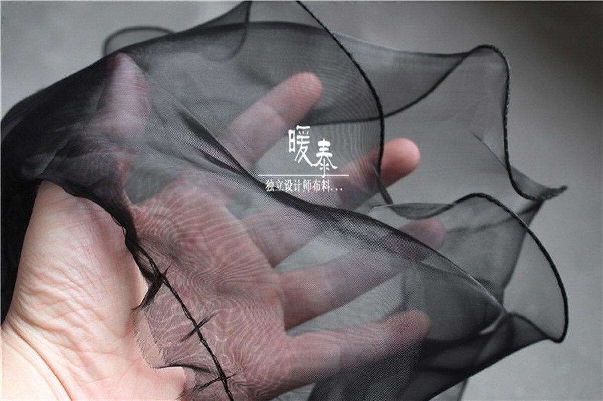 18.5cm Wave Lace Trim Black White Double Layers Organza DIY Decor Ruffle Collar Cuff Skirt Wedding Dress Designer Accessories