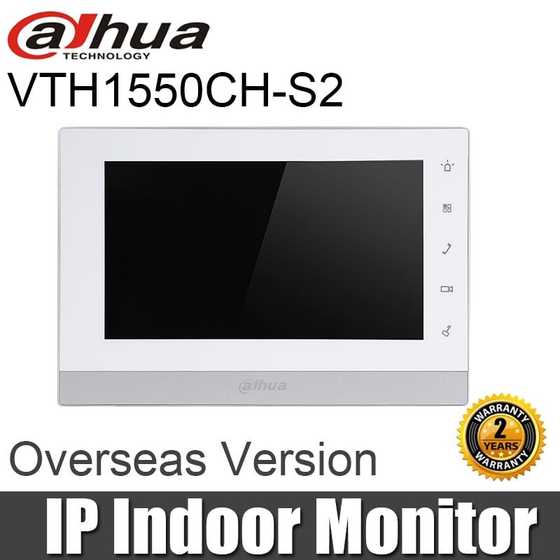 "New Dahua VTH1550CH-S2 Indoor Monitor 7"" Touch Screen IP Video Intercom SD Card Slot IPC Surveillance Alarm Replace VTH1550CH"