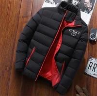 winter jacket mens fashion stand up collar mens parka coat mens solid color thick jacket coat mens winter parka coat