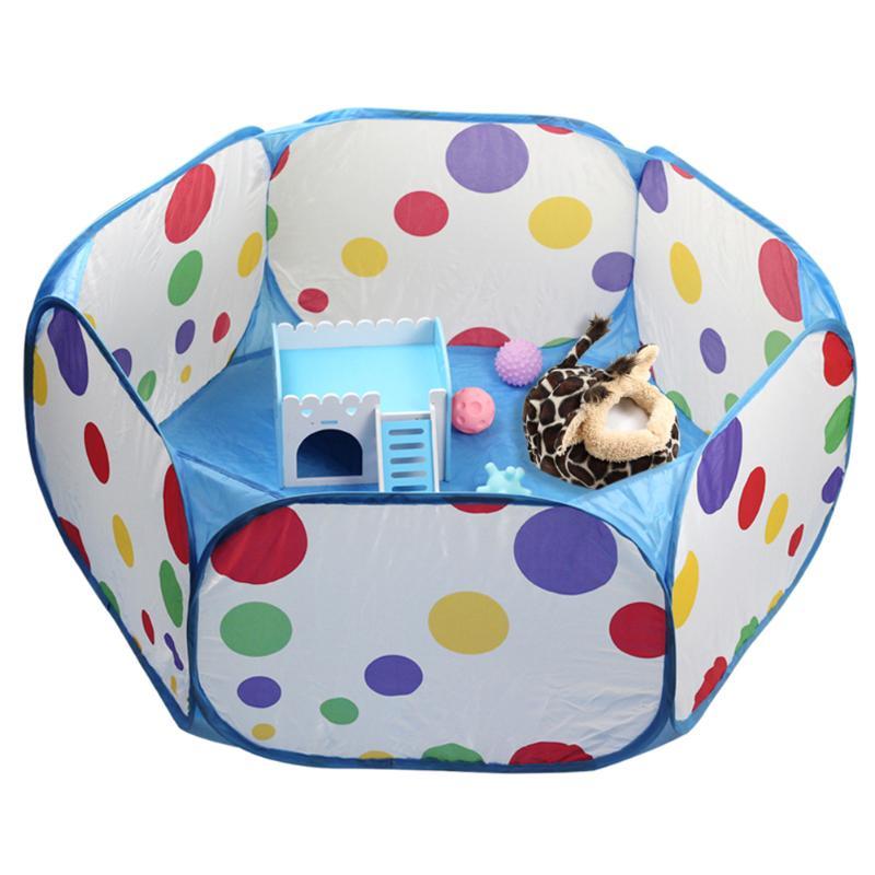 Jaula para mascotas pequeña carpa corralito transpirable pequeños animales valla plegable portátil para hámster erizo cachorro gato conejo