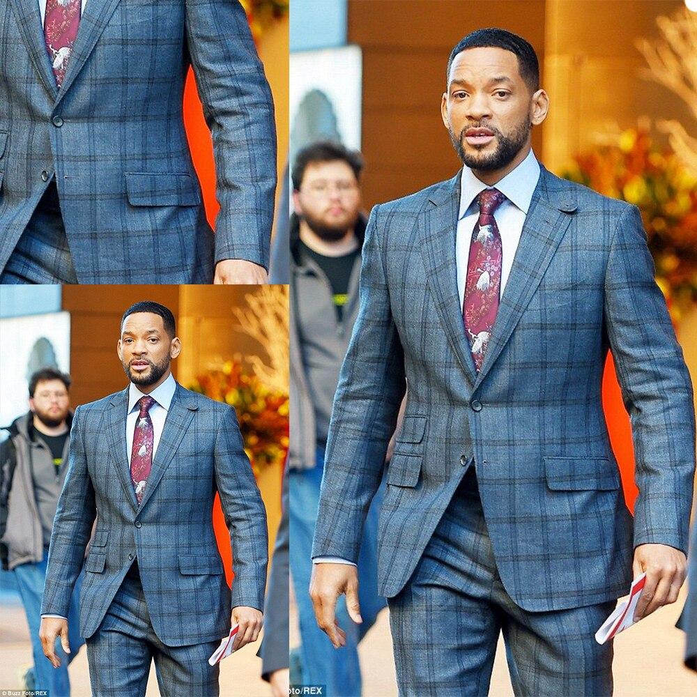 وسيم رجال الأعمال شريطية Tuxedos بلغت ذروتها التلبيب الشارع الشهير جيب السترة الذكية عادية سليم صالح معطف 2 قطعة