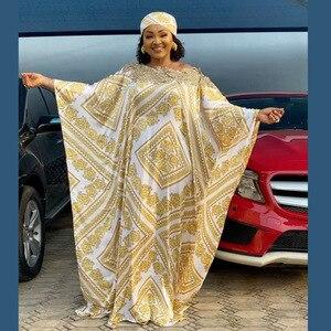 2021 New African Women's Dashiki Silk Maxi Abaya Fashion Loose Embroidery Long Abaya African Dress For Women African Clothes