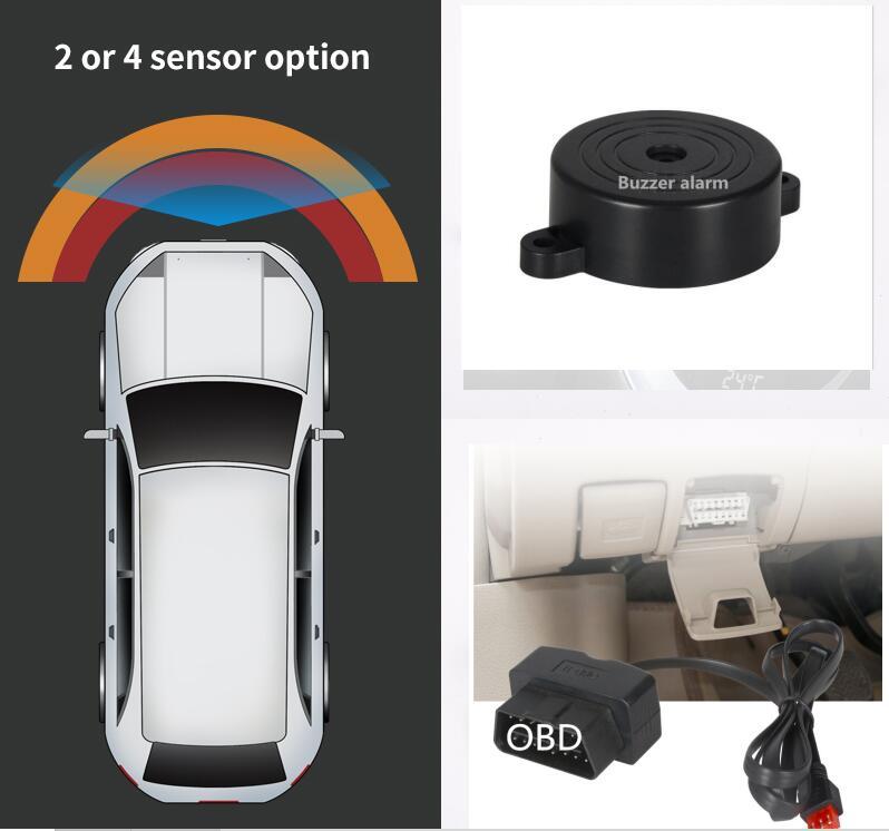 Carro obd frente 4 parktronic sensor sistema campainha alarme + obd acionado automaticamente velocidade inferior a 20 km/h detecção original
