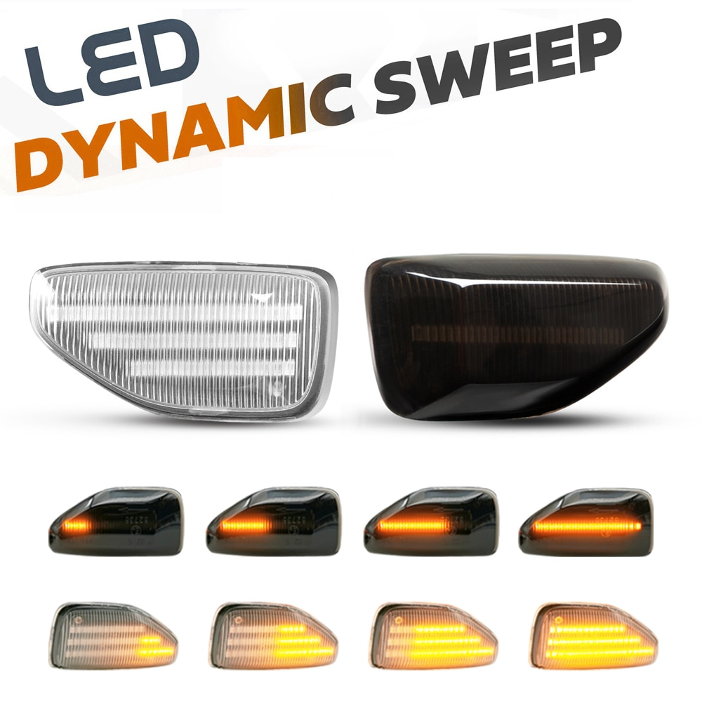 2 قطعة LED ديناميكية مصابيح العلامات الجانبية السهم بدوره إشارة الوامض مصابيح ل داسيا داستر لوجان MCV 2 سانديرو Stepway 2 MK2 2012-2020