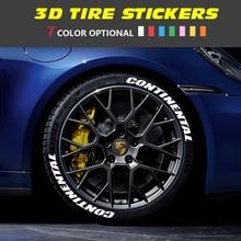 ZEKSTAR 7 Color Tire Wheel Car Stickers and Decals 3D Logo PVC Letters Sticker Auto Label Personaliz
