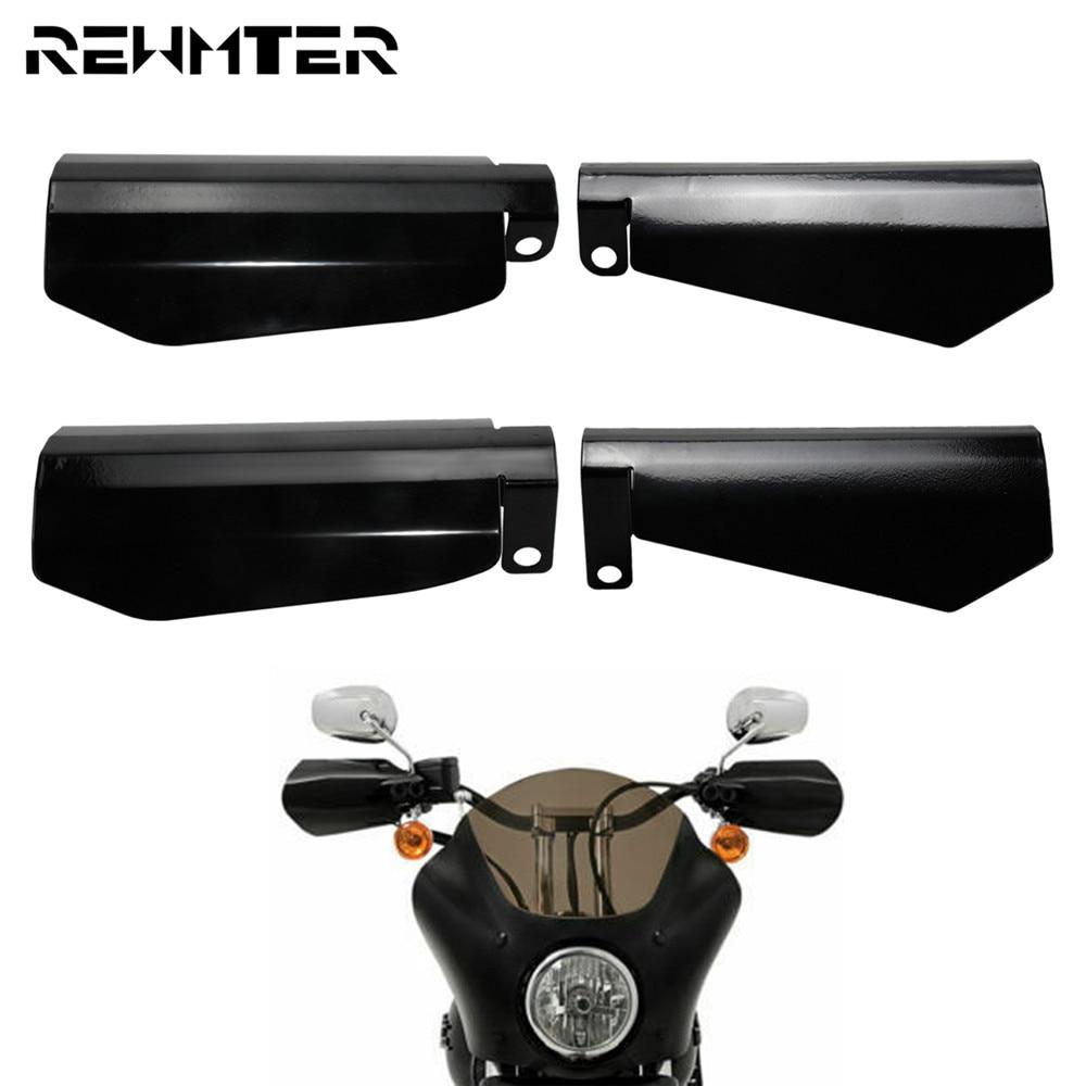 Paramani per motocicletta in acciaio inossidabile lucido nero 2 pezzi paramani per Harley Sportster XL Dyna baggri protezione anticaduta