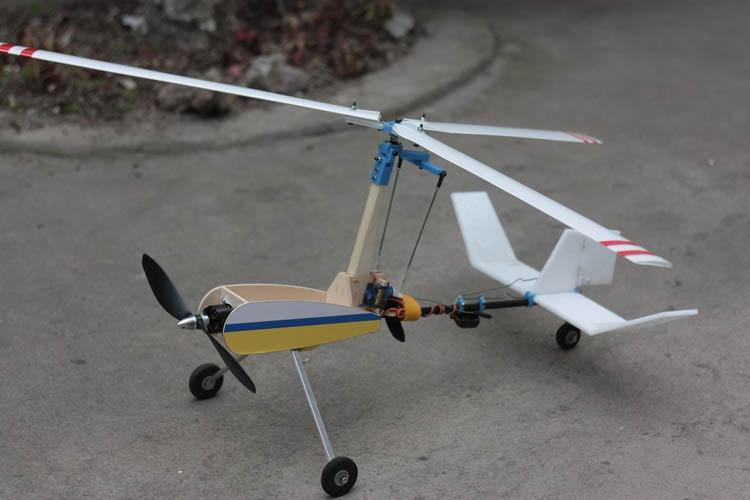 Modelo de avión de radiocontrol V2S Avion Rc eléctrico, ala rotativa de...