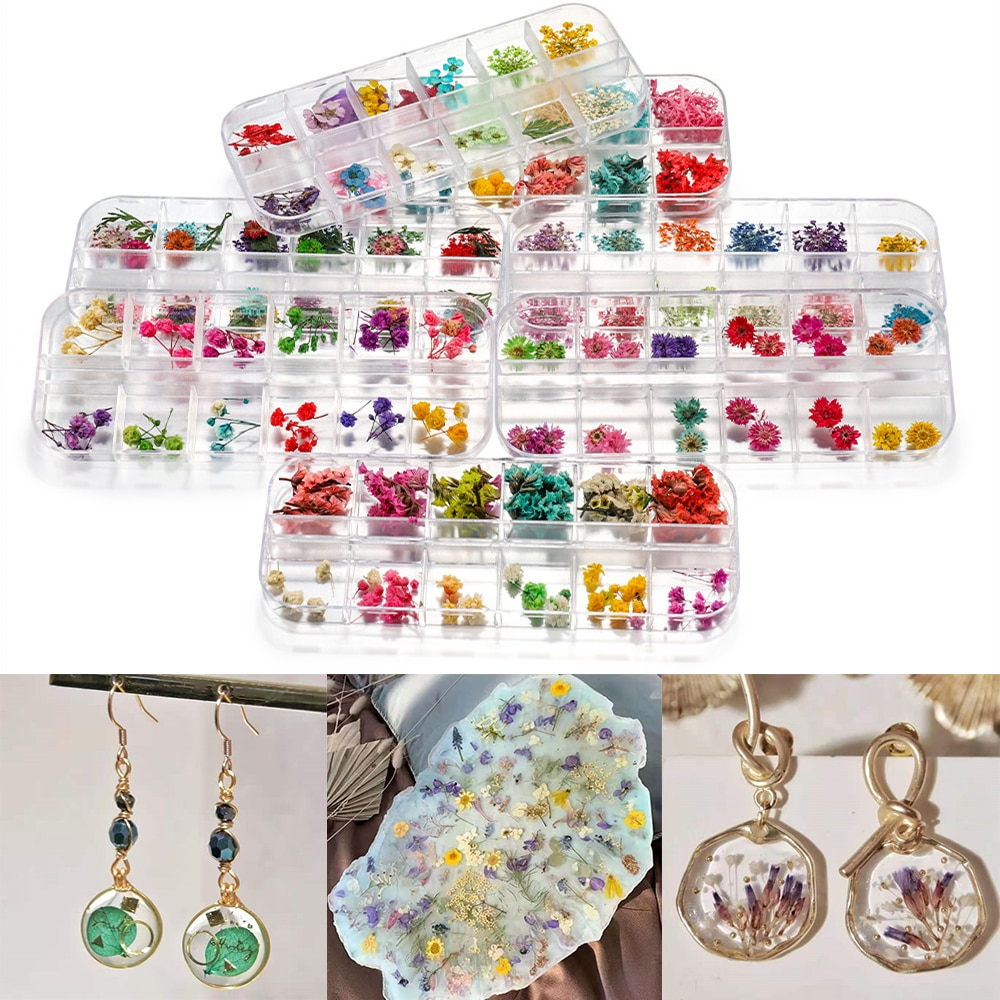 1Box Dried Flowers Dry Plants for Rsein Molds Fillings Epoxy Resin Pendant Necklace Jewelry Making C