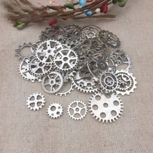 50g/pack Retro Antique Gears Charms Pendant Clock Watch Wheel Gear For Crafting DIY Jewelry Making A