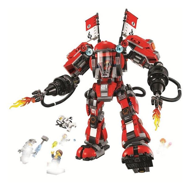Fire Mech 10720 serie Ninja Garmadon batalla Robots enormes 980 Uds compatibles con Lepining modelo 70615 bloques de construcción ladrillos Juguetes