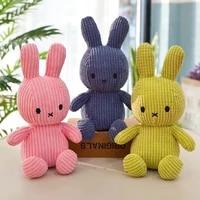 30cm height large plush bunny doll toys kids sleeping back cushion cute stuffed rabbit baby accompany dolls xmas gift