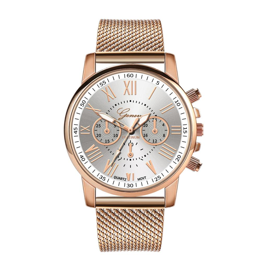 De cuarzo de lujo Deporte Militar de acero inoxidable Dial reloj de pulsera con correa de cuero vestido Relogio femenino reloj Montre Femme 2019