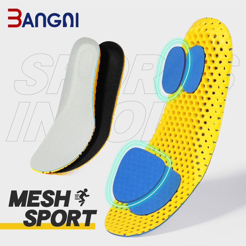 Bangni Insoles Orthopedic Memory Foam Sport Support Insert Woman Men Shoes Feet Soles Pad Orthotic B