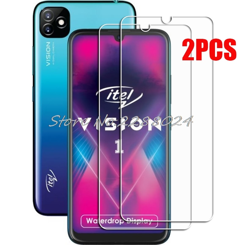 2PCS FOR Itel Vision 1 High HD Tempered Glass Protective On Vision1 Screen Protector Film