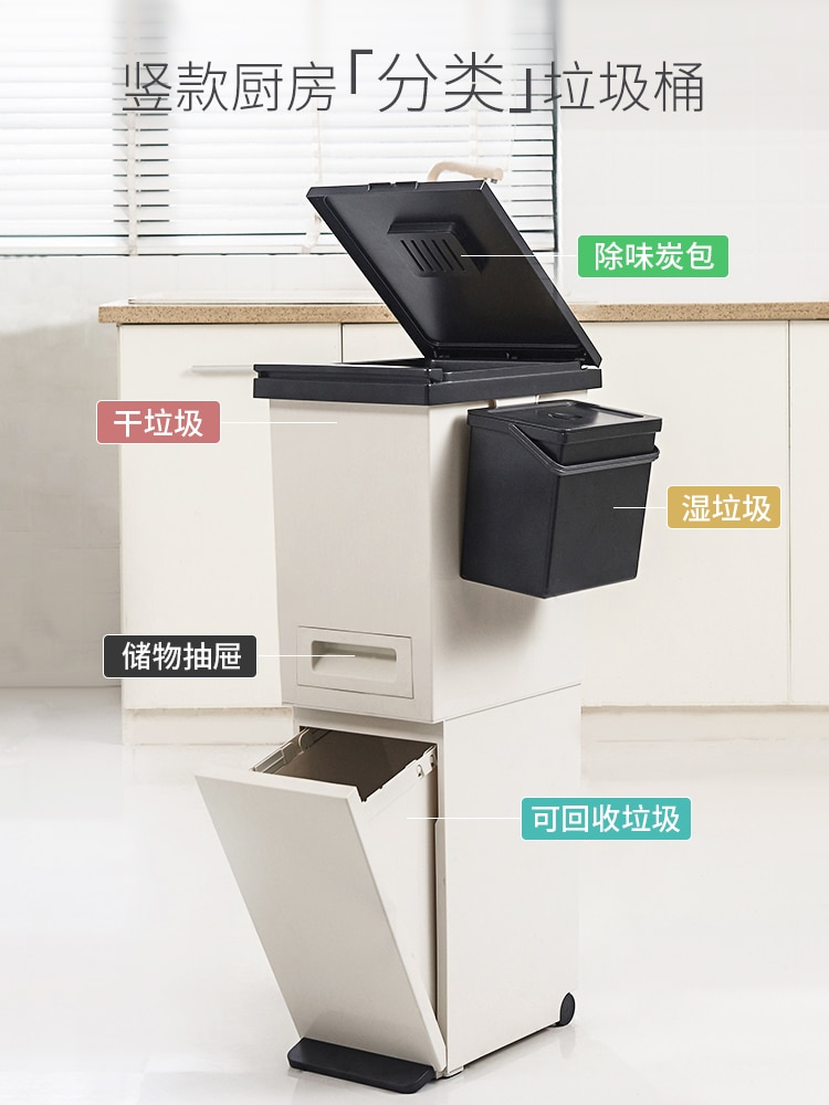 Plastic Bedroom Trash Can Bathroom Garbage Home Office Storage Trash Can Zero Waste Poubelle De Cuisine Cleaning Accessories enlarge