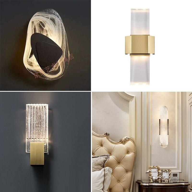 Lámpara nórdica de hierro lámpara led para cabecera para sala de estar,...