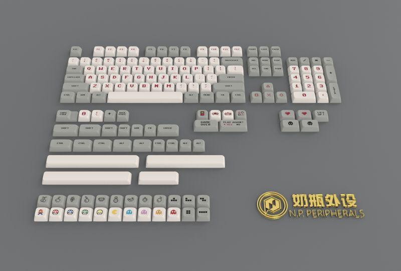 1 مجموعة XDA الشخصي صبغ subbed Gameboy الطفولة الكلاسيكية الرجعية لعبة keycap ل MX التبديل لوحة المفاتيح الميكانيكية