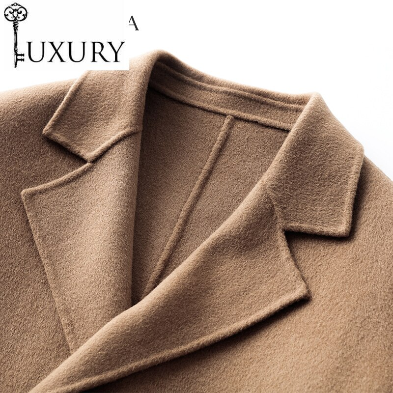 2020 nueva marca Abrigo 200% lana hombres ropa 2020 Casual Coreana de...