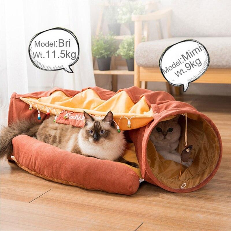 سرير للقطط منزل انفصال للطي لعبة نفق للقطة أثاث الحيوانات الأليفة جرو سرير للكلاب الصغيرة حصيرة القط لوازم النوم منتجات الحيوانات الأليفة