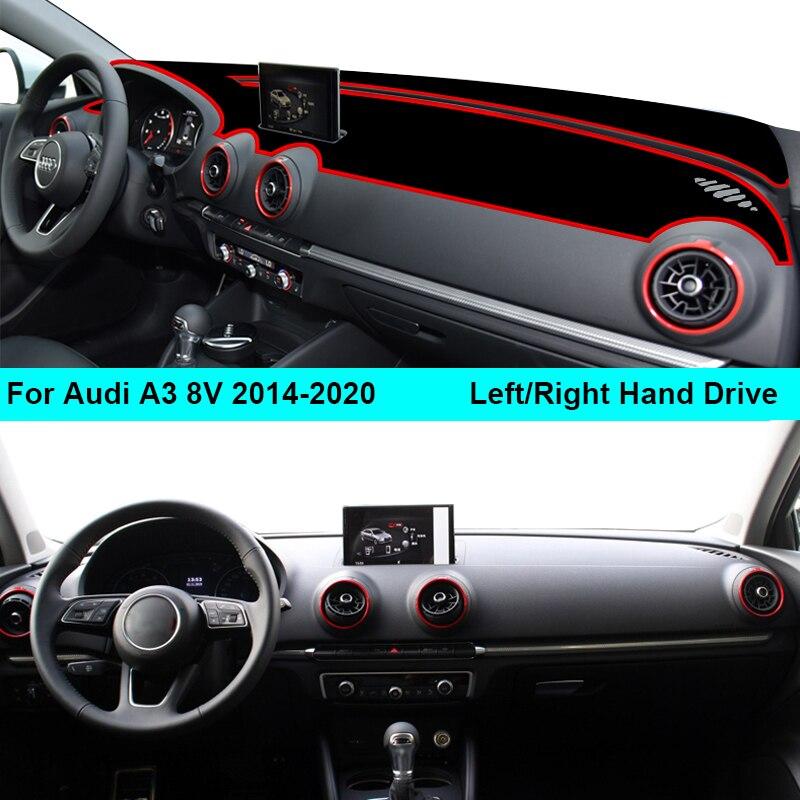 Cubierta de salpicadero interior de coche alfombra de tablero para Audi A3 8V 2014 - 2020 parasol Anti-sol 2019 2018 2017 2016 2015 cojín