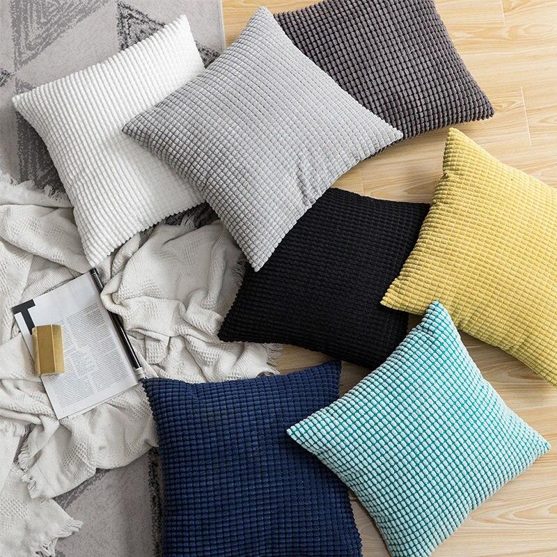 Capa de almofada de veludo 45x45cm almofadas decorativas de veludo sofá almofada capa para sala de estar decoração kussenhoes macio casa decoração