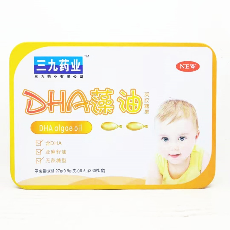 DHA Algal Oil Linseed Oil Gel Drops 30 Tablets One Product Dropshipping Nine Pharmaceutical Company Box Packaging 24 27 Grams