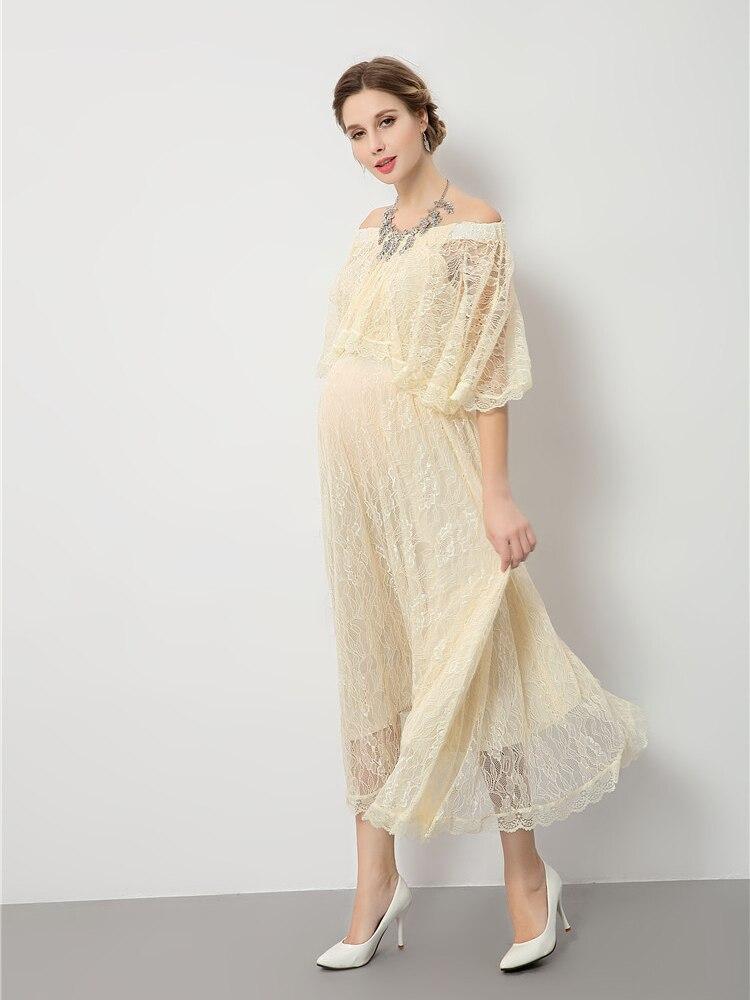 Um-ombro lmaternity photo shoot tema fotografia roupas novo europeu mommy photo clothing studio foto roupas para grávidas