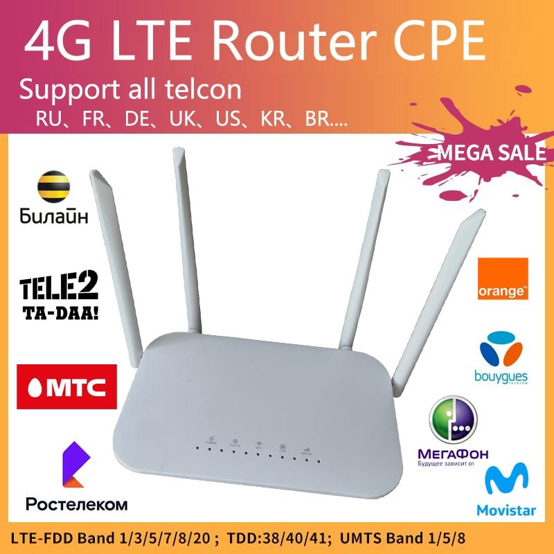 LC117 LTE CPE 4G موزع إنترنت واي فاي بطاقة SIM هوت سبوت CAT4 32 مستخدم RJ45 WAN LAN مودم لاسلكي kuwifi