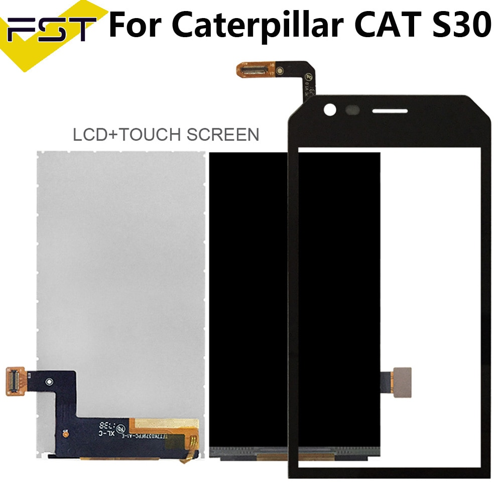 4.5'' Black For Caterpillar CAT S30 LCD Display+Touch Screen Digitizer For Cat S30 Screen Lcd Mobile