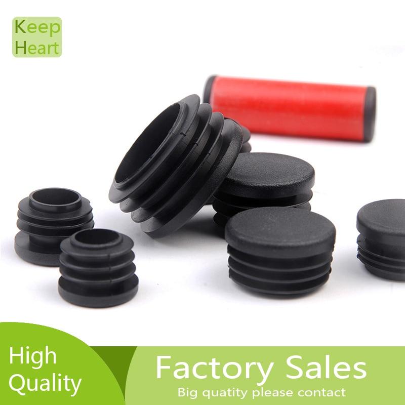 10 шт. черные пластиковые ножки для мебели разъем заглушка конец Кепки Bung для круглой трубы горяч-продавая