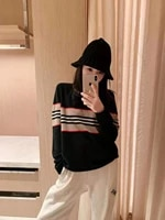 2021 spring and autumn new cashmere casual sweater pullover sweater long sleeve sleeve round neck sweater top