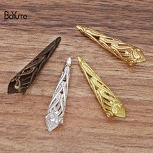 BoYuTe (50 أجزاء/وحدة) 9*35 مللي متر المعادن تخريمية زهرة لتقوم بها بنفسك يدوية الصنع مجوهرات اكسسوارات