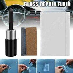 Ferramenta de reparo de arranhões, corretor de vidro de janela, faixa de resina, adesivo para reparo de para-brisas