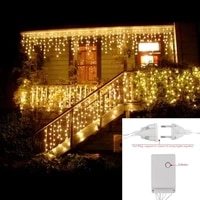 decorative led 5m curtain icecle led string light droop 0 40 50 6m christmas holiday garlands faiy xmas party garden stage