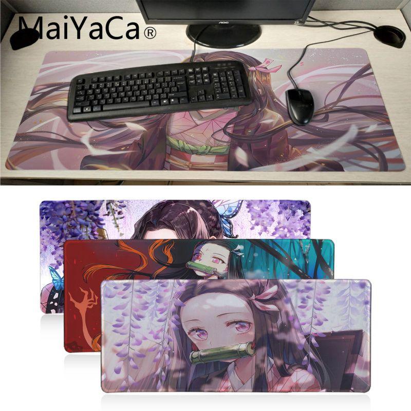 Alfombrilla de goma MaiYaCa Demon Slayer Kimetsu no Yaiba para chica, alfombrilla de ratón para juegos de Rusia, alfombrilla de ratón xl, teclado, portátil, PC, almohadilla de escritorio