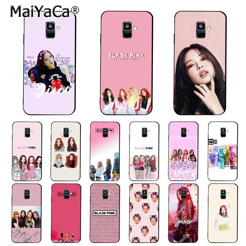 Чехол для телефона MaiYaCa PINK k-pop BLACKPINK kpop для Samsung Galaxy A7 A8 A6 Plus A9 2018 A50 A70 A20 A30 A40