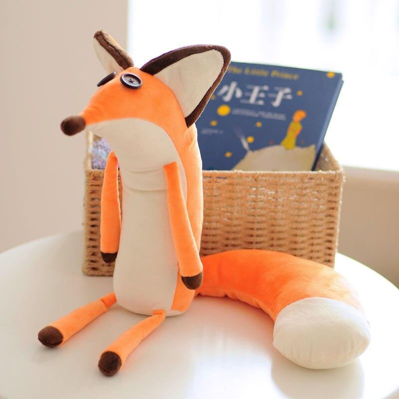 Плюшевые куклы Маленький принц и лиса 60 см, мягкие плюшевые игрушки-животные, обучающие игрушки для малышей, подарки на Рождество, день рожд...