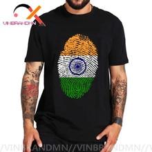 India Flag Fingerprint T-shirt Funny Hindu Elephant God T Shirt Men Short Sleeves O-Neck India Ganesha Tshirt Outdoor Brand Tees