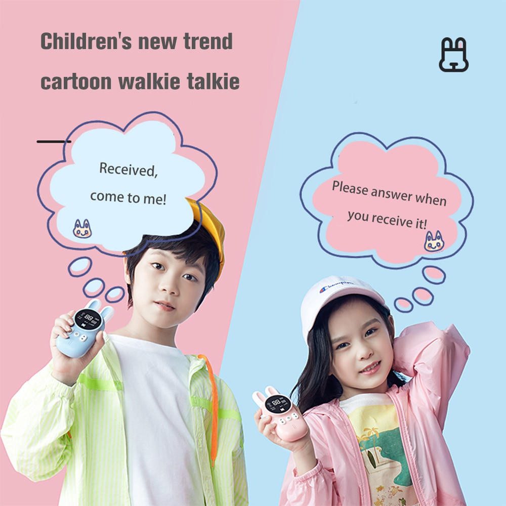 Mini Kids Walkie Talkie Toys Child Portable Two Way Radio 1-3 km Comunicador For Camping/ Family/Children Gift Cute Rabbit Style enlarge