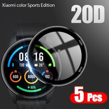 20D Curved Edge Full Soft Protective Film Cover For Xiaomi Mi Color Sports Edition Smart Watch Scree