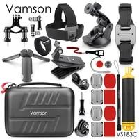 Vamson for GoPro 9 Medium General Accessories Set Mini Tripod Buoyancy Bar Screw head Sucker for gopro9 8 7 6 5 for Xiaoyi VS183