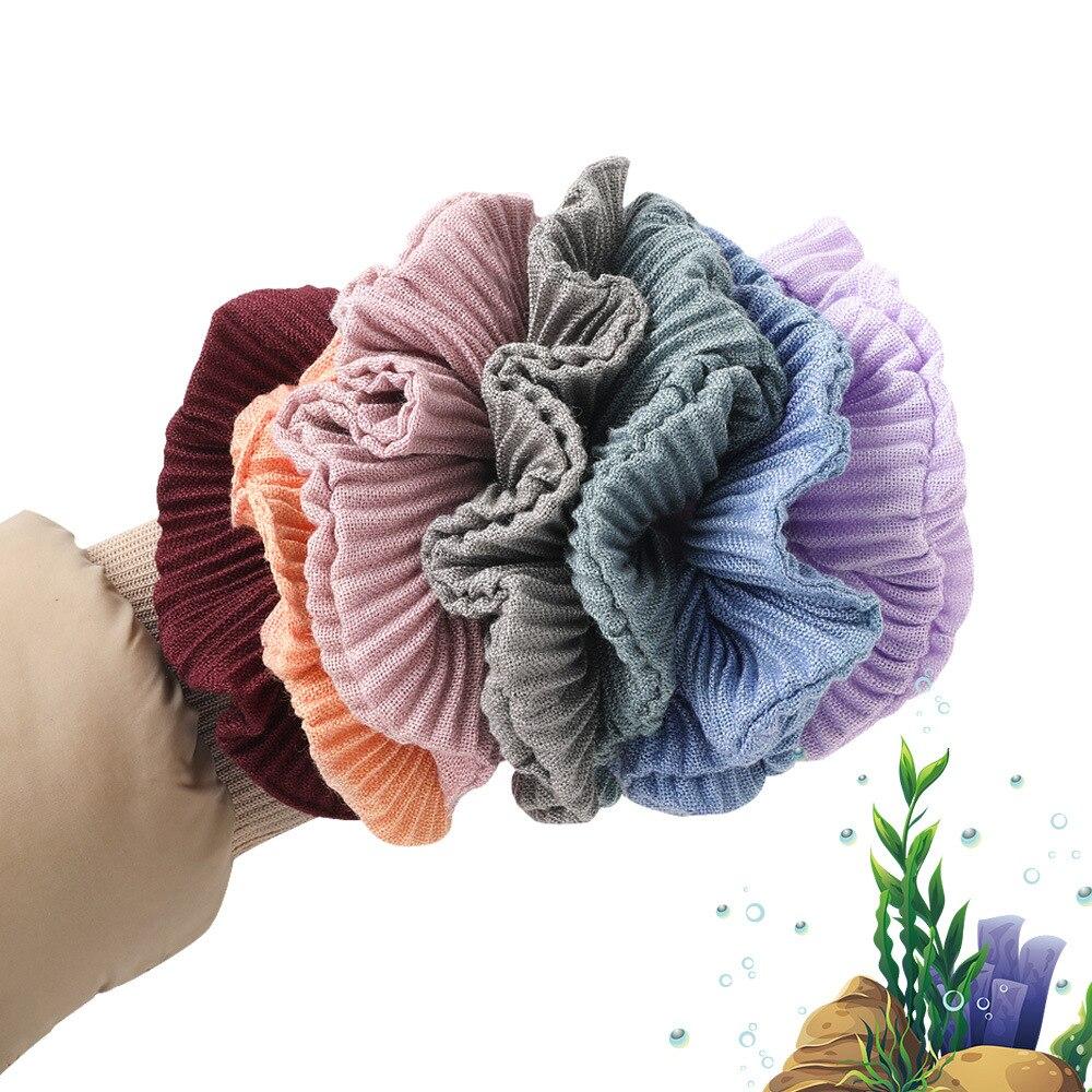 Tejido para mujer, Scrunchie Crinkled Gumki Do Wlosow, tamaño grande, Elastiekjes Haar, bandas elásticas para el cabello para niñas, lazos para el cabello, accesorios para el cabello