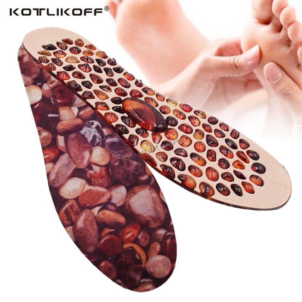 KOTLIKOFF, plantillas de masaje de adoquines para hombres y mujeres, terapia de goma suave, almohadilla de acupresión para pies, plantilla de inserción de pie para pérdida de peso