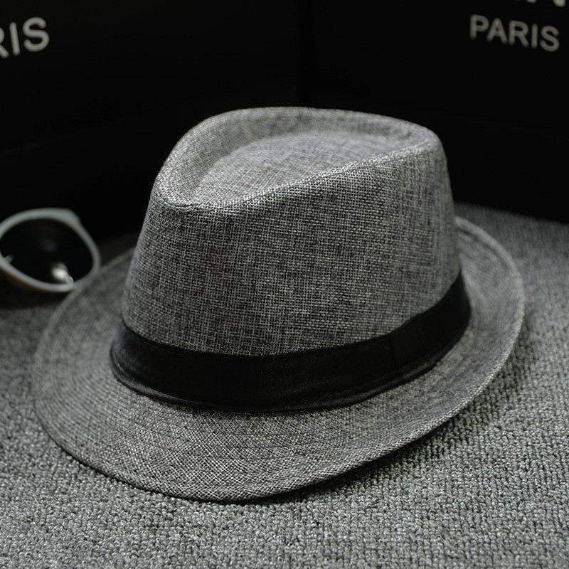 Sombrero clásico Fedora de paja panamá de ala ancha para fiesta de verano